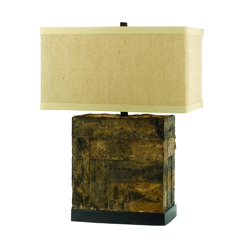 AF Lighting Table Lamp with Beige / Cream Shade in Natural Finish 8116-TL