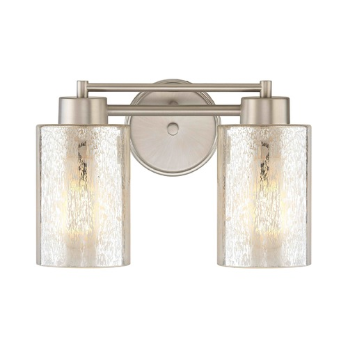Design Classics Lighting Mercury Glass Bathroom Light Satin Nickel 702-09 GL1039C