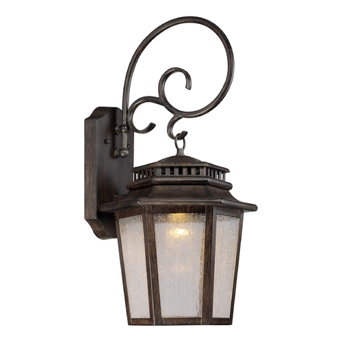 Minka Lavery LED Outdoor Wall Light with Clear Glass in Iron Oxide Finish 8273-A357-L
