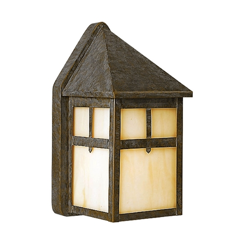 Progress Lighting Outdoor Wall Light with Beige / Cream Glass in Weathered Bronze Finish P5759-46