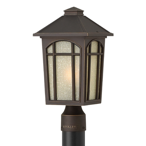 Hinkley Lighting Post Light with White Glass in Oil Rubbed Bronze Finish 1981OZ