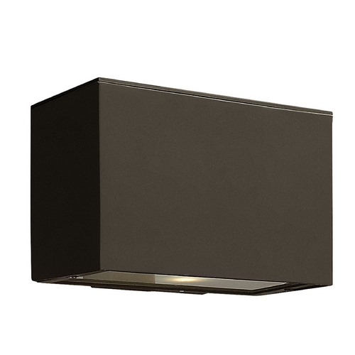 Hinkley Lighting Modern Outdoor Wall Light with White Glass in Bronze Finish 1646BZ-GU24