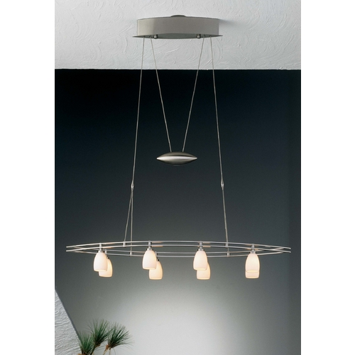 Holtkoetter Lighting Holtkoetter Modern Low Voltage Pendant Light with White Glass in Satin Nickel Finish 5508 SN G5000