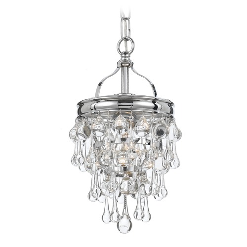 Crystorama Lighting Crystorama Lighting Calypso Polished Chrome Mini-Pendant Light 131-CH
