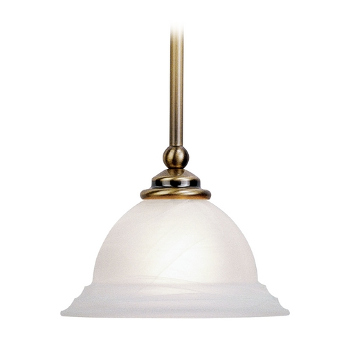 Livex Lighting Livex Lighting North Port Antique Brass Mini-Pendant Light 4256-01