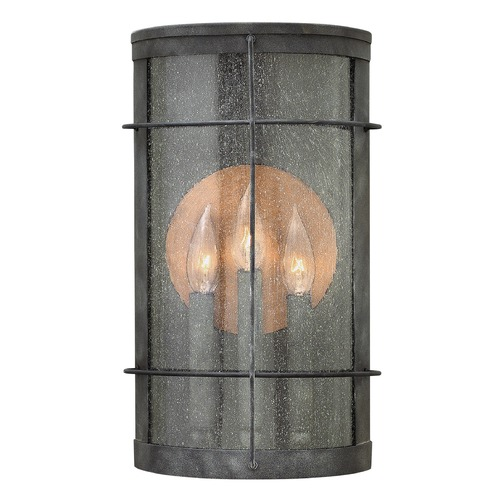 Hinkley Lighting Hinkley Lighting Newport Aged Zinc Outdoor Wall Light 2625DZ