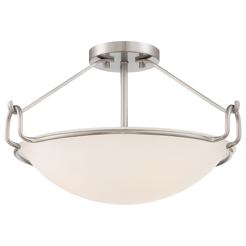 Quoizel Lighting Quoizel Brushed Nickel Semi-Flushmount Light QF1834BN