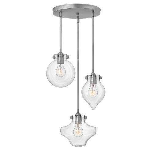 Hinkley Lighting Hinkley Lighting Congress Antique Nickel Mini-Pendant Light 3198AN