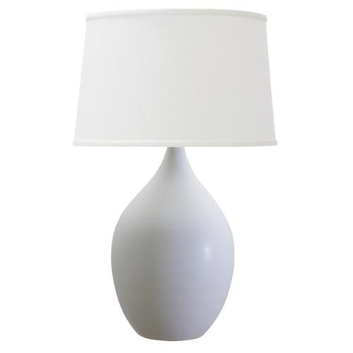 House of Troy Lighting House Of Troy Scatchard White Matte Table Lamp with Empire Shade GS302-WM