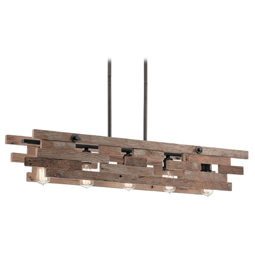 Kichler Lighting Linear Pendant Light Iron Cuyahoga Mill by Kichler Lighting 44229AVI