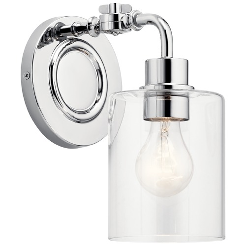 Kichler Lighting Gunnison Chrome Sconce with Clear Glass 45664CH