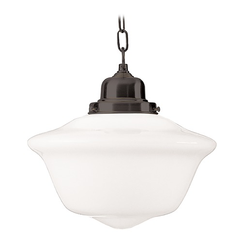 Hudson Valley Lighting Pendant Light with White Glass in Old Bronze Finish 1615-OB