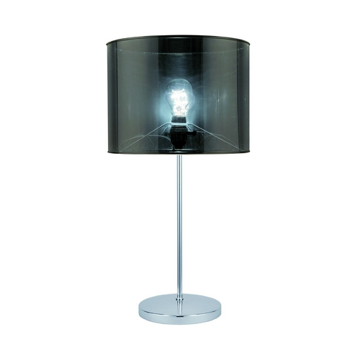 Lite Source Lighting Lite Source Lighting Lanza Chrome Table Lamp with Drum Shade LSF-21998
