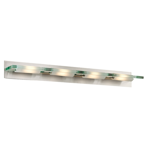 Access Lighting Modern Bathroom Light with Clear Glass in Brushed Steel Finish 62099-BS/12C