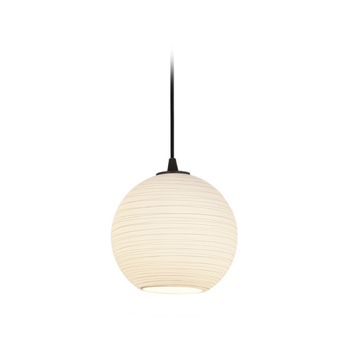 Access Lighting Modern Mini-Pendant Light with White Glass 28085-2C-ORB/WHTLN