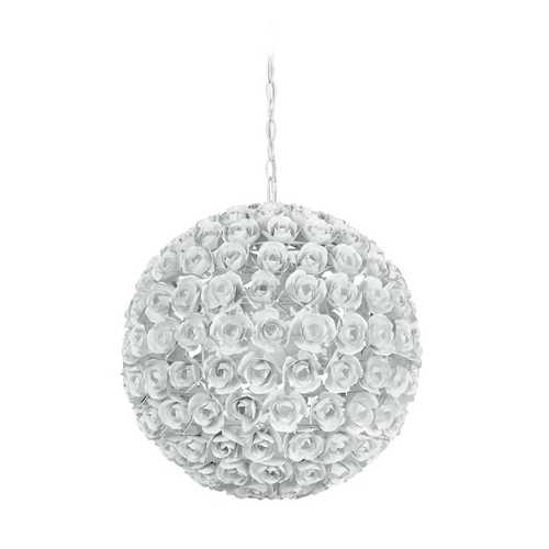 Crystorama Lighting Crystal Pendant Light in Wet White Finish 539-WW