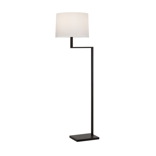Sonneman Lighting Modern Swing Arm Lamp with White Shade in Coffee Bronze Finish 6426.27