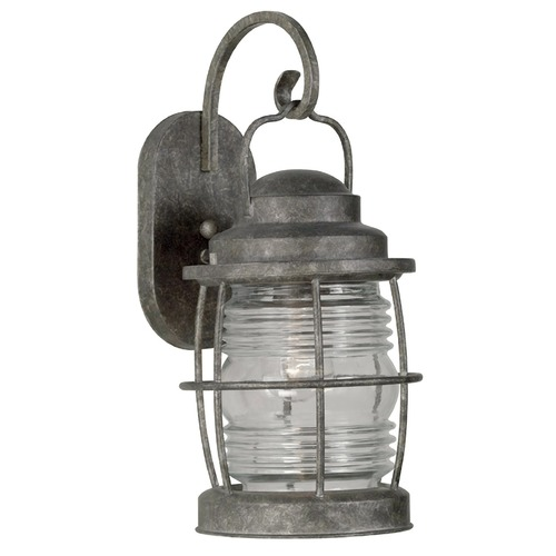 Kenroy Home Lighting Outdoor Wall Light with Clear Glass in Flint Finish 90953FL