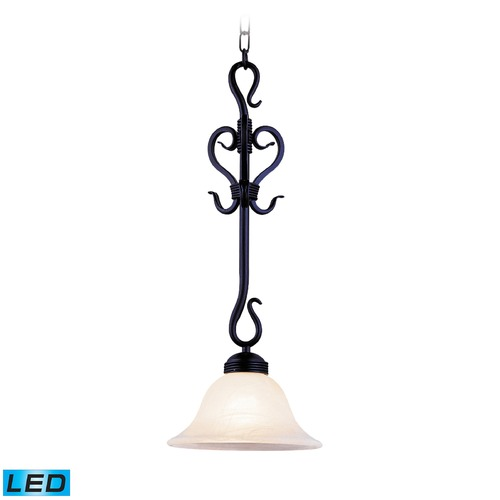 Elk Lighting Elk Lighting Buckingham Matte Black LED Mini-Pendant Light with Bowl / Dome Shade 251-BK-LED