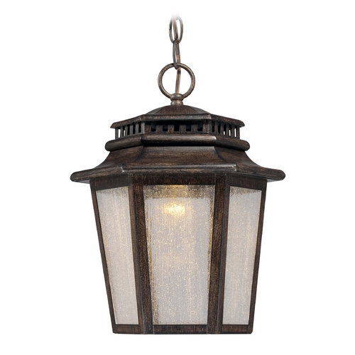 Minka Lighting LED Outdoor Hanging Light with Clear Glass in Iron Oxide Finish 8274-A357-L