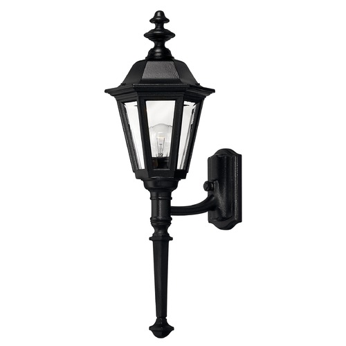 Hinkley Outdoor Wall Light with Clear Glass in Black Finish 1410BK