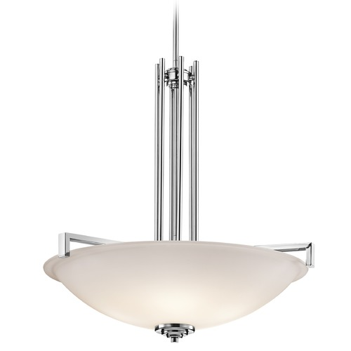 Kichler Lighting Kichler Lighting Eileen Chrome Pendant Light with Bowl / Dome Shade 3299CH