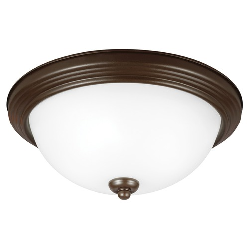 Sea Gull Lighting Sea Gull Lighting Ceiling Flush Mount Bell Metal Bronze Flushmount Light 77064-827