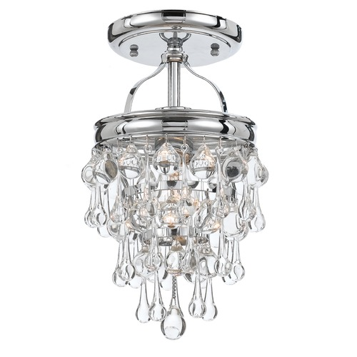 Crystorama Lighting Crystorama Lighting Calypso Polished Chrome Semi-Flushmount Light 131-CH_CEILING