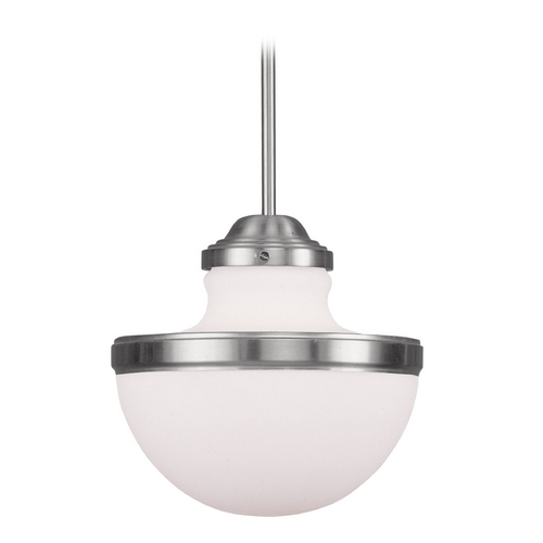 Livex Lighting Livex Lighting Oldwick Brushed Nickel Pendant Light 5725-91