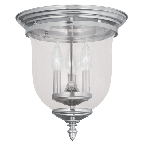 Livex Lighting Livex Lighting Legacy Polished Nickel Flushmount Light 5021-35