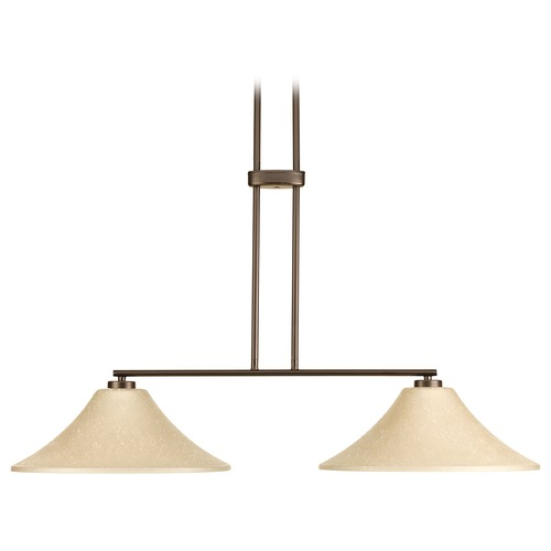 Progress Lighting Progress Lighting Bravo Antique Bronze Island Light with Conical Shade P4014-20ETUM