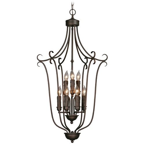 Golden Lighting Golden Lighting Rubbed Bronze Pendant Light 6427-9 RBZ