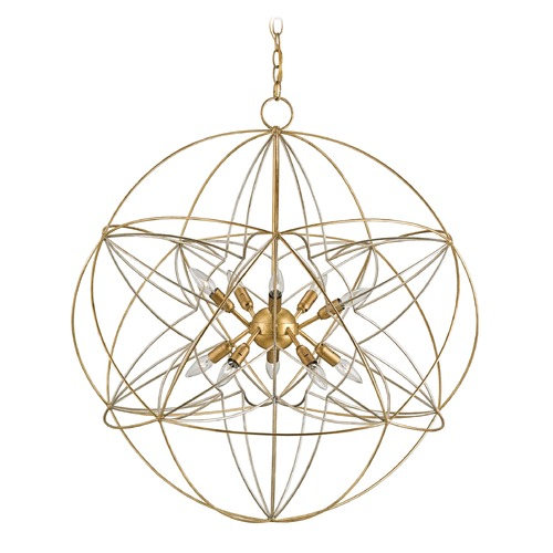 Currey and Company Lighting Currey and Company Zenda Gold Leaf / Silver Leaf Pendant Light 9840