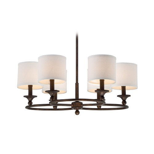 Quoizel Lighting Quoizel Lighting Adams Leathered Bronze Chandelier ADA5006LN