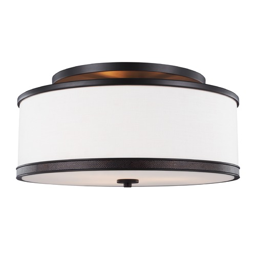 Feiss Lighting Feiss Lighting Marteau Oil Rubbed Bronze Semi-Flushmount Light SF337ORB