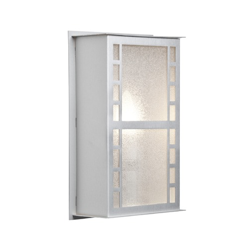 Besa Lighting Besa Lighting Napoli Brushed Aluminum Outdoor Wall Light NAPOLI11-GL-BA