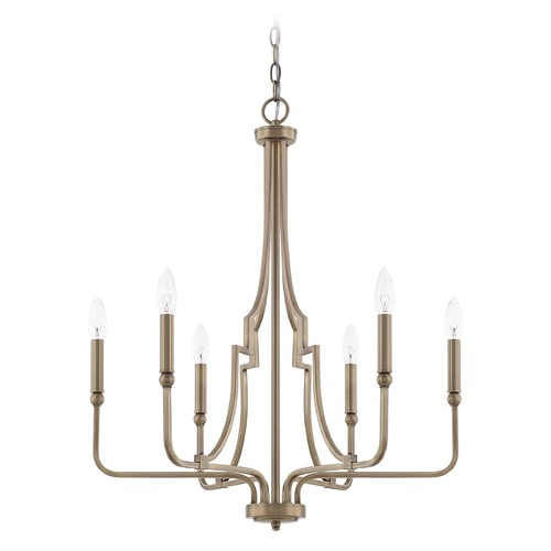 Capital Lighting Capital Lighting Dawson Aged Brass Chandelier 419361AD