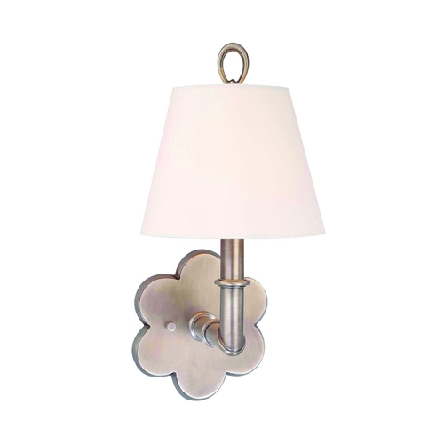 Hudson Valley Lighting Sconce Wall Light with White Shade in Antique Nickel Finish 921-AN