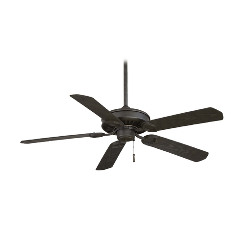 Minka Aire 54-Inch Ceiling Fan Without Light in Black Iron with Brushed Nickel Accents Finish F589-BI/AI