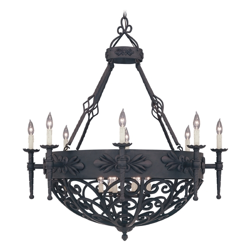 Designers Fountain Lighting Chandelier in Natural Iron Finish 9189-NI