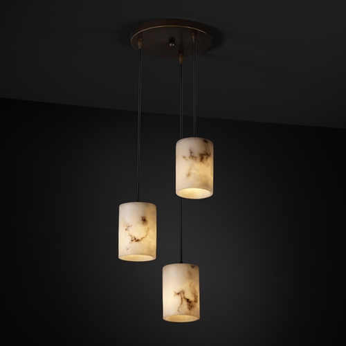 Justice Design Group Justice Design Group Lumenaria Collection Multi-Light Pendant FAL-8818-10-DBRZ