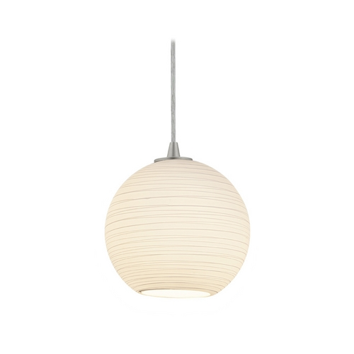 Access Lighting Modern Mini-Pendant Light with White Glass 28085-2C-BS/WHTLN