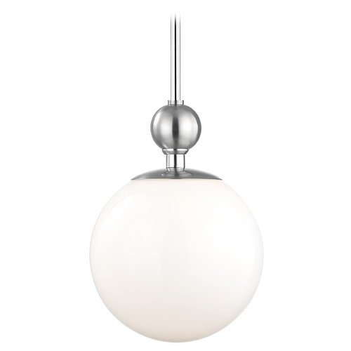 Mitzi by Hudson Valley Mid-Century Modern Pendant Light Polished Nickel Mitzi Daphne by Hudson Valley H118701L-PN