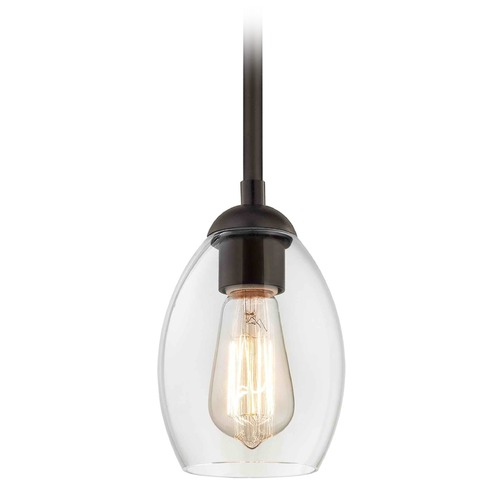 Design Classics Lighting Design Classics Gala Fuse Neuvelle Bronze Mini-Pendant Light with Oblong Shade 581-220 GL1034-CLR