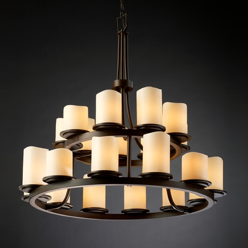 Justice Design Group Justice Design Group Candlearia Collection Chandelier CNDL-8767-14-CREM-DBRZ