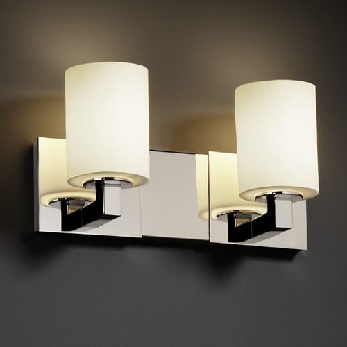 Justice Design Group Justice Design Group Fusion Collection Bathroom Light FSN-8922-10-OPAL-CROM