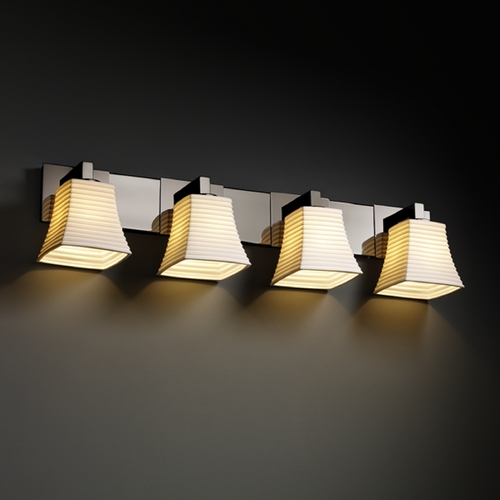 Justice Design Group Justice Design Group Limoges Collection Bathroom Light POR-8924-40-SAWT-BLKN
