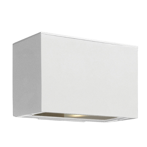 Hinkley Lighting Modern Outdoor Wall Light with White Glass in Satin White Finish 1646SW-GU24