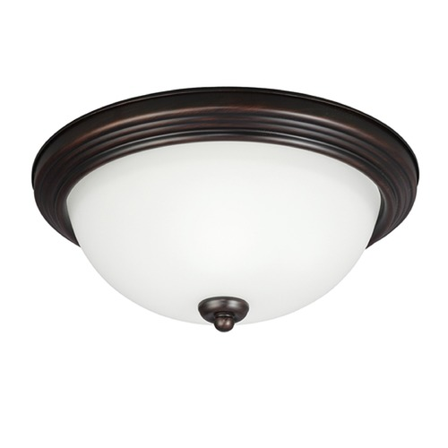 Sea Gull Lighting Sea Gull Lighting Ceiling Flush Mount Burnt Sienna Flushmount Light 77265-710