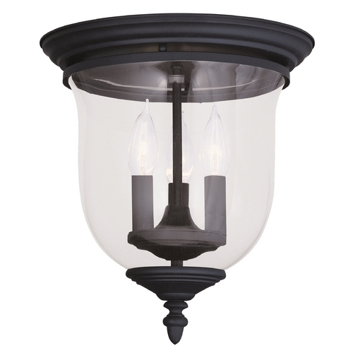 Livex Lighting Livex Lighting Legacy Black Flushmount Light 5021-04